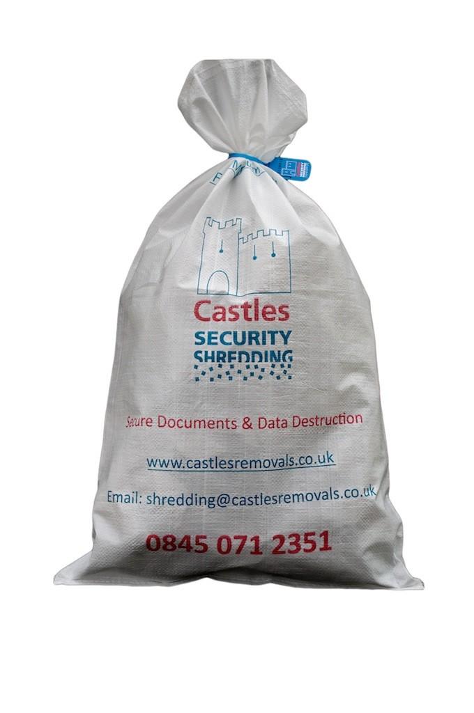 bag of security shreddings
